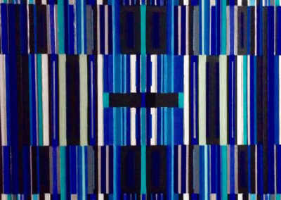 Code barre bleu